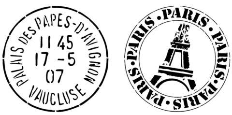 Postage Marks Paris Stencil