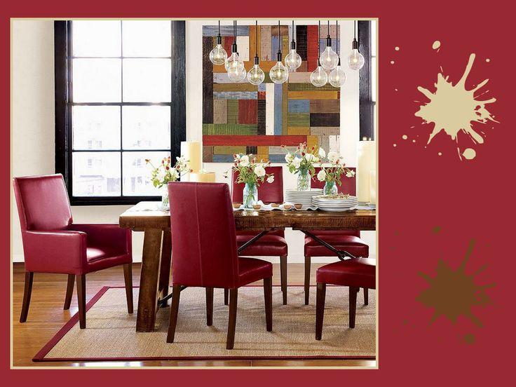 Cinabrese, sabbia, siena scuro: una tavolozza ispirata ai colori della natura, per creare un'atmosfera rilassante in qualsiasi ambiente della casa. Semplice ed elegante come accostamento, non credi anche tu? #red #palette #colourfull #diningroom #interiordesign
