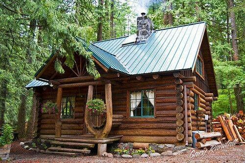 Rutic Log Cabin Small House Plans Modern