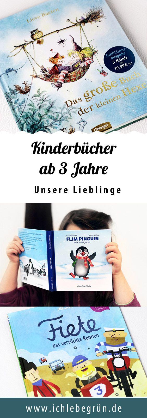 Kinderbücher für 3-jährige - Hexe Lisbet, Flim Pinguin, Fiete und mehr. Unsere Empfehlungen!
