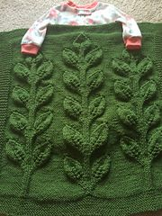 Ravelry: NittanyKnits' Sprout Blanket in Perfection Worsted