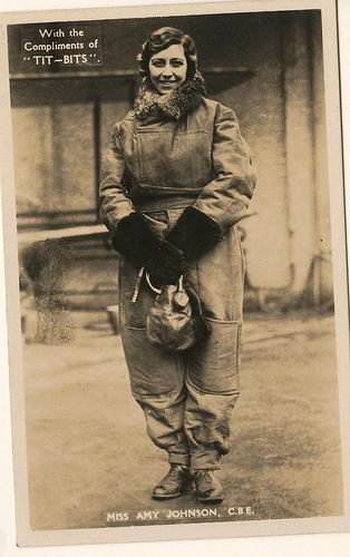 Amy Johnson, pilot by Muffet, via Flickr