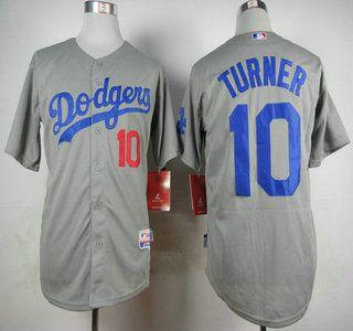 Los Angeles Dodgers Jersey 10 Justin Turner Grey Jerseys