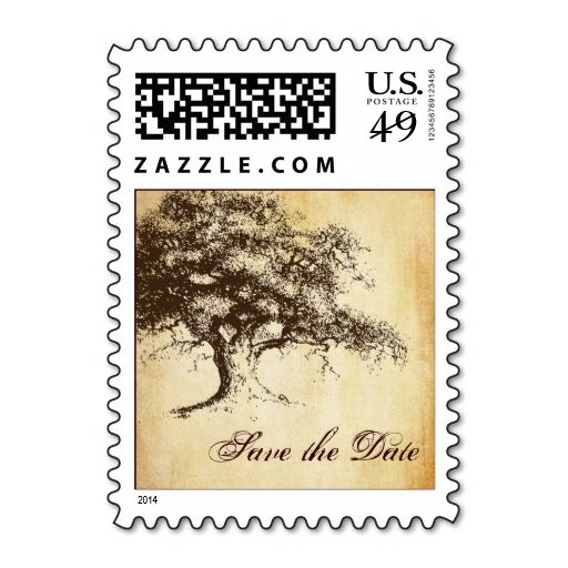 293 best save the date postage stamps images on pinterest wedding vintage oak tree save the date wedding postage maxwellsz