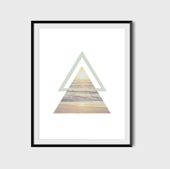 Triangle Beach Sunset Print