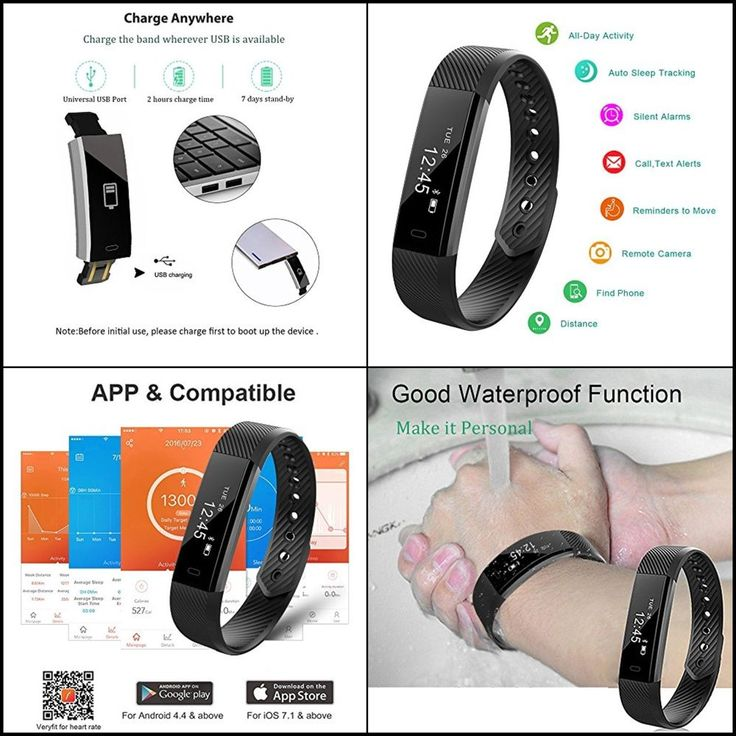 Fitness Activity Tracker Watch Fitbit Heart Rate Monitor Pedometer Android IOS #Teamyo