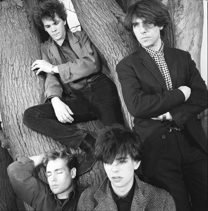 A close up press shot of the Bunnymen that I believe was never used.