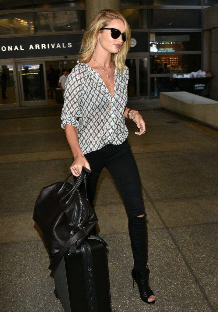 Rosie Huntington Whiteley Lands LAX Airport COXj