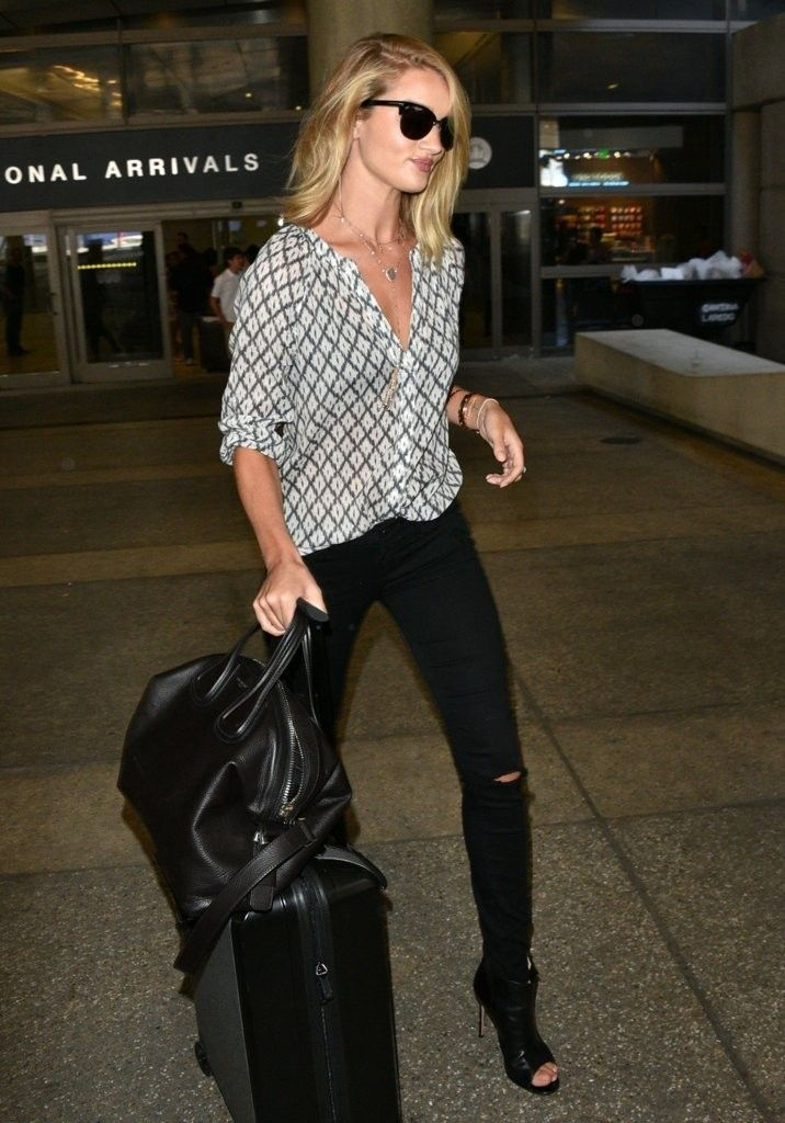 Rosie Huntington Whiteley Lands LAX Airport COXj