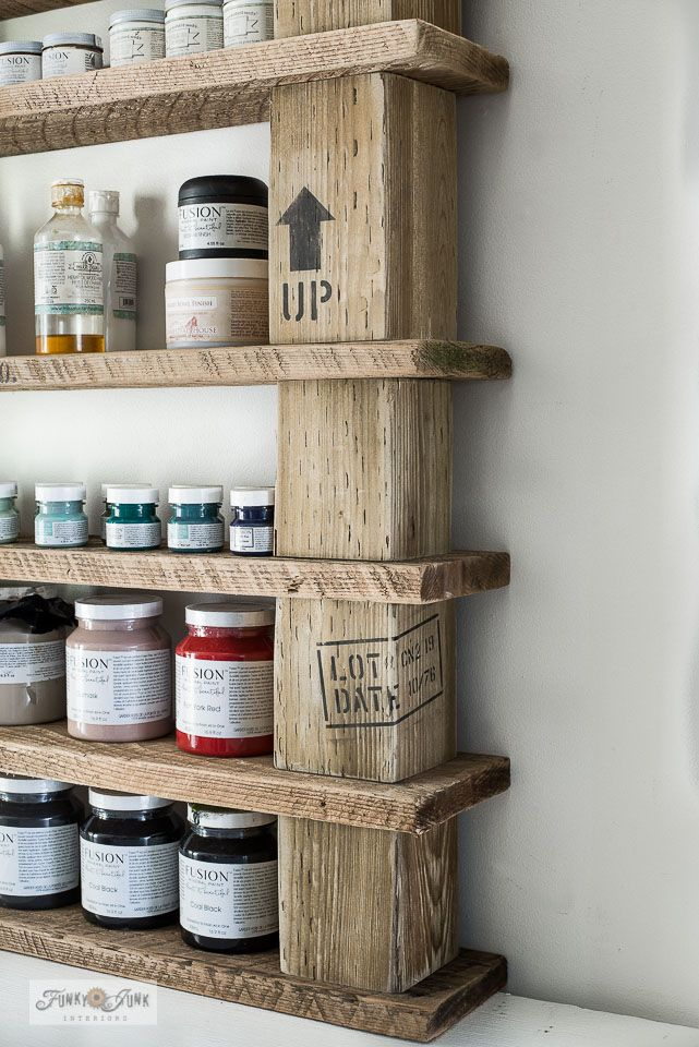 Easy Wood Block Crate Styled Paint Shelving Funky Junk Interiors
