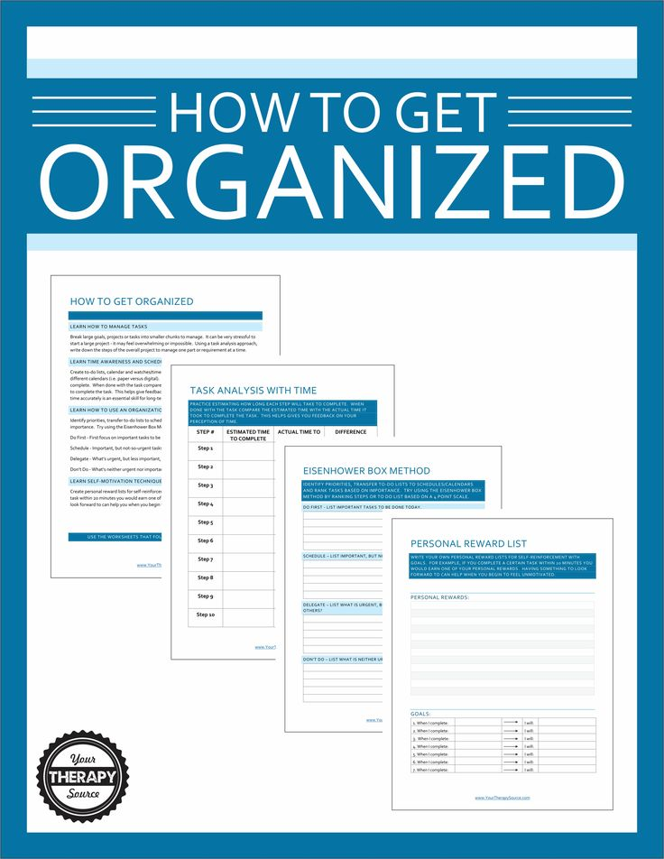 How To Get Organized Worksheets For Students Executive