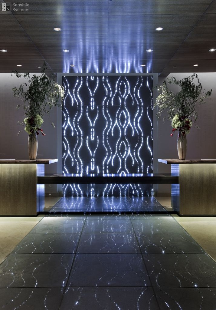 sensitile terrazzo lumina slabs tiles utilize patented technologies to infuse light into a finely crafted concrete substrate