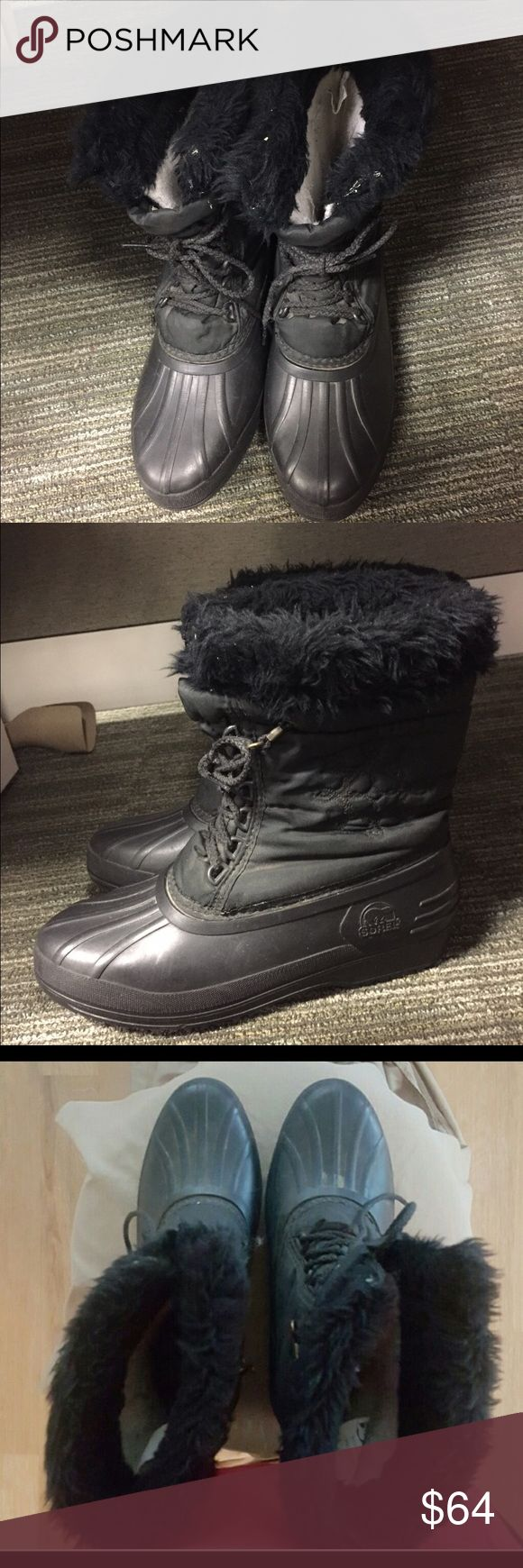 Black Sorel Duck Boots Women's size 8. Black. Great condition. Sorel duck boots perfect for winter. Sorel Shoes Winter & Rain Boots