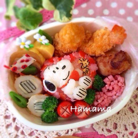 Snoopy onigiri bento