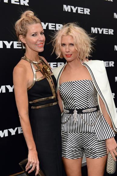 Loving the hot coral lips on Sass & Bide's Heidi Middleton and Sarah-Jane Clarke at last night's Myer Autumn/Winter 2013 Fashion Launch (but I know I could never pull that shade off!).