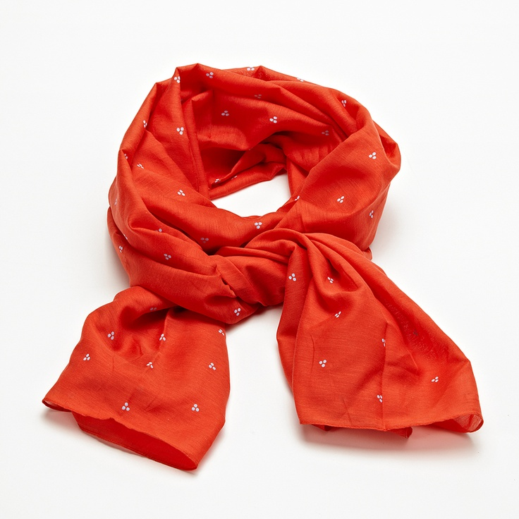 Oranje sjaal | Famousbox