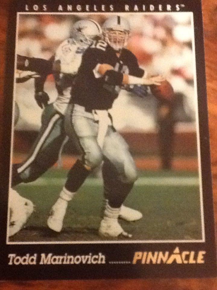 Todd Marinovich - 1993 Pinnacle #78, Los Angeles Raiders Football Card #LosAngelesRaiders