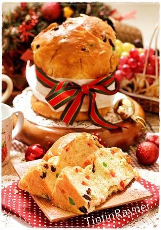 Pannetone Roti Natal khas Italia - Italian Christmas Bread- Trial langsung enyak