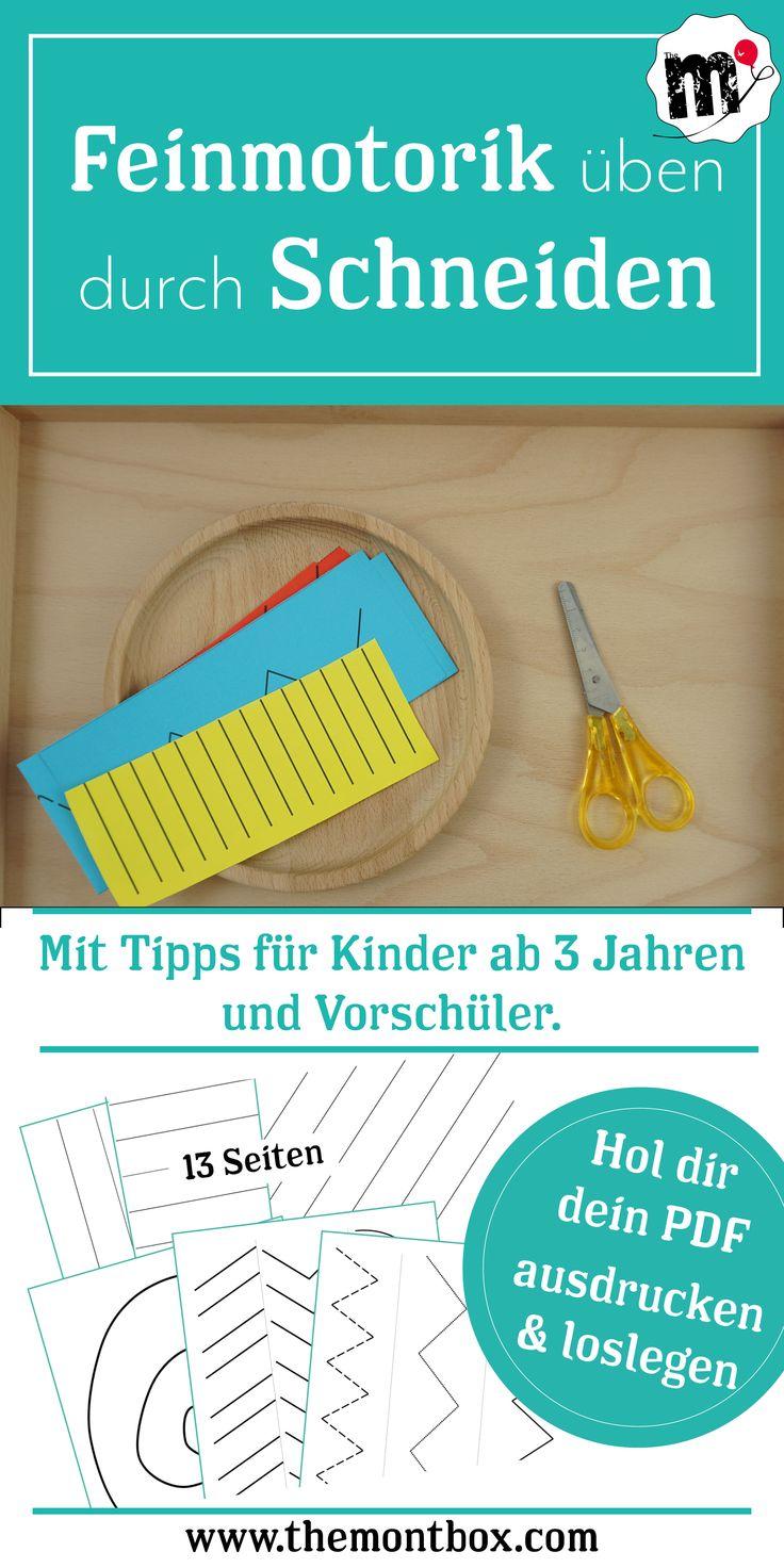 Montessori-inspirierte Feinmotorikübung: Schneiden