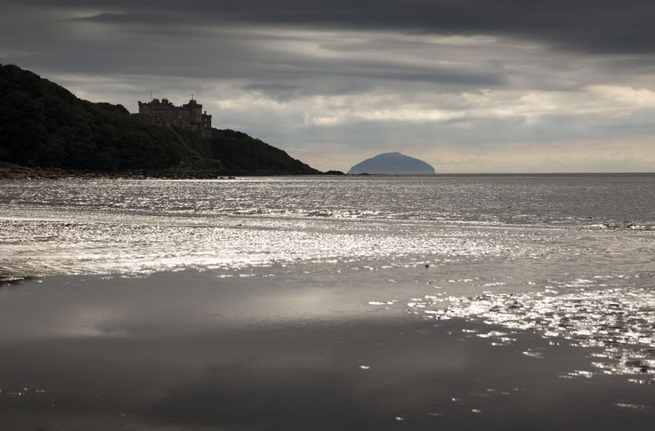 Culzean Castle, Ayrshire. This imposing castle, set on the cliffs overlooking the Firth of Clyde, is reputed to be haunted by a piper on dark & stormy nights. Imagine how this must sound with the howling wind & crashing waves!