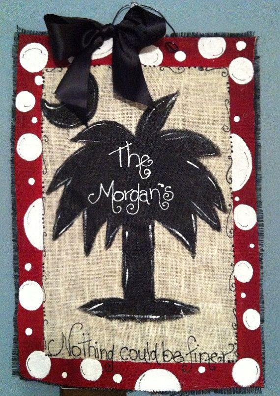 Painted Pineapple Door Hanger