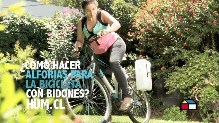 Liked on YouTube: Cómo hacer alforjas para la bicicleta con bidones?