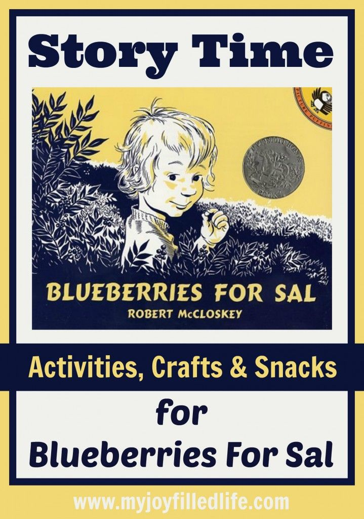 Blueberries for Sal Story Time Activities, Crafts, and Snacks | My Joy-Filled Life