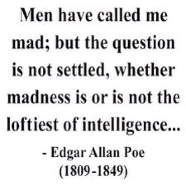 poe and his depictions of madness essay Compare the portrayal and use of madness in the yellow wallpaper by charlotte  perkins gilman and the tell-tale  related gcse edgar allan poe essays.