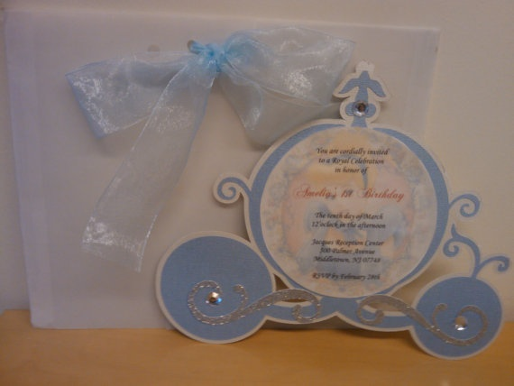 Cinderella party invitation (pasilva--etsy)