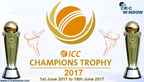 ICC Champions Trophy 2017 latest updates. Provided CT2017 fixtures, squads, points table, results, live scorecard, live streaming video with quick updates.