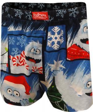 4e191498f0 Rudolph Faces of Bumble Christmas Boxer Shorts | Men's Fun Undies ...