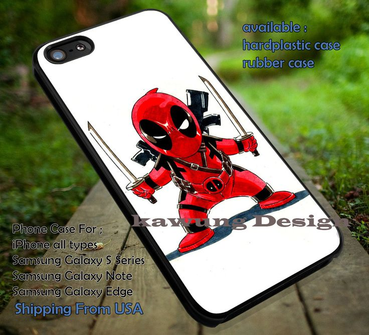 Chibi Characther, Comic, Deadpool, Enemy, Villain, Chibi, case/cover for iPhone 4/4s/5/5c/6/6 /6s/6s  Samsung Galaxy S4/S5/S6/Edge/Edge  NOTE 3/4/5 #cartoon #disney #animated  #marvel #comic #movie ii