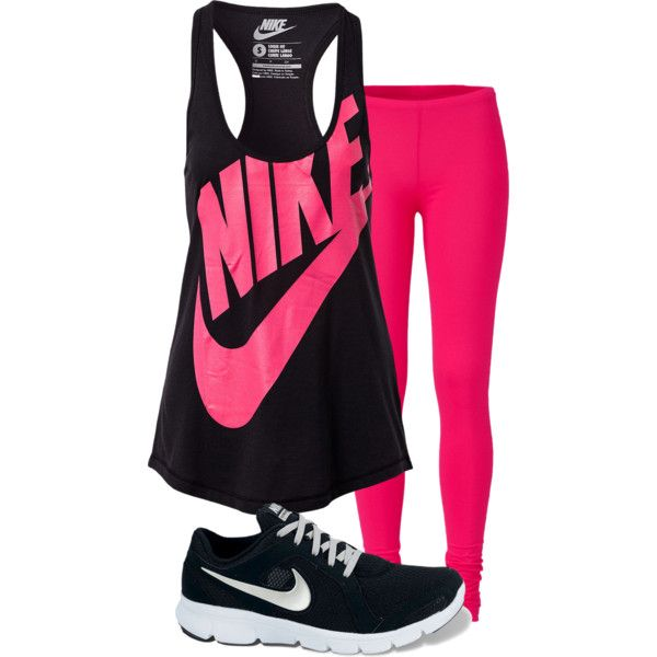 Nike workout outfit. Oh, if I could wear this type of thing all day, every day.