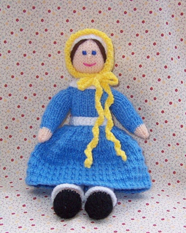 Toy Knitting Pattern - Jane - A Victorian Doll - 1838 - PDF E-mail £2.50 http://folksy.com/items/3100066-Toy-Knitting-Pattern-Jane-A-Victorian-Doll-1838-PDF-E-mail