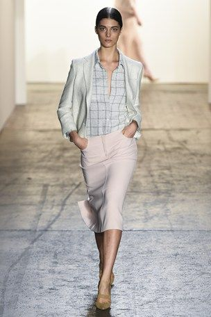 Wes Gordon NYFW S/S 15 (windowpane checks)