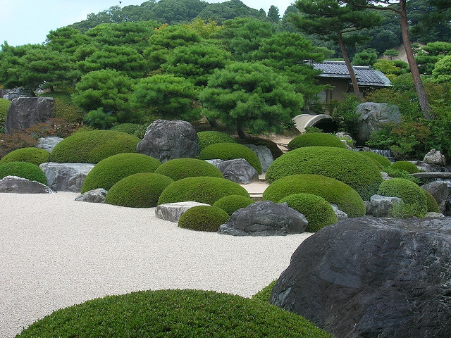 Garden in Adachi Museum of Art, Shimane, Japan
