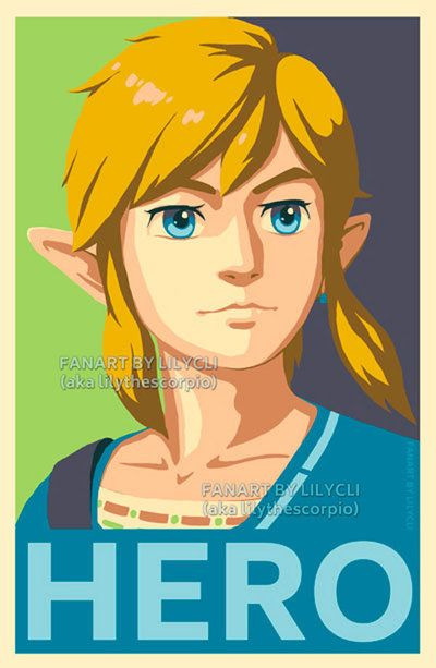 I love Breath of the Wild, my first Legend of Zelda game. Here's an inspiration version of Link. I want to do another HOPE poster, after Zuko ( ). The watermark was because I had issue with a...