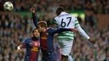 Victor Wanyama (Celtic FC) & Jordi Alba (FC Barcelona) | Celtic 2-1 FC Barcelona. 07.11.12.