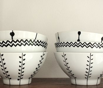 hand painted bowls - www.craftifair.com