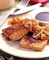 Grilled Barbecue Tempeh recipe.  Super easy recipe has WW points. Be sure to select a barbecue sauce without HFCS as an ingredient.