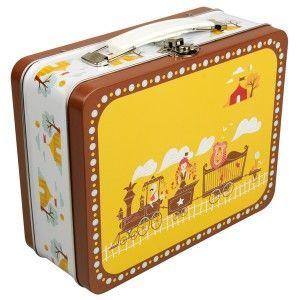 Blafre koffertje 'circus trein'