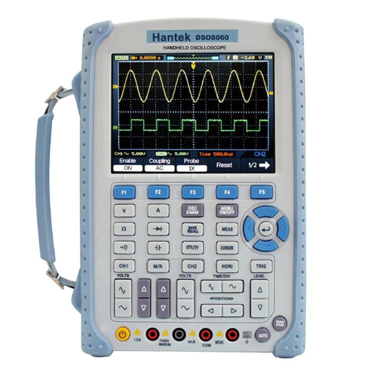 374.30$  Watch now - http://aliok7.worldwells.pw/go.php?t=32745327580 - 5 in 1 60MHZ Handheld Oscilloscope DMM / Spectrum Analyzer / Frequency Counter / Arbitrary Waveform Generator Hantek DSO8060 374.30$