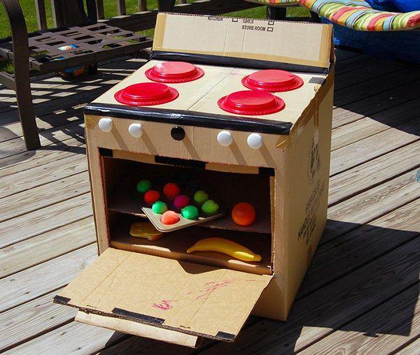 30 Creative DIY Cardboard Playhouse Ideas - Hative