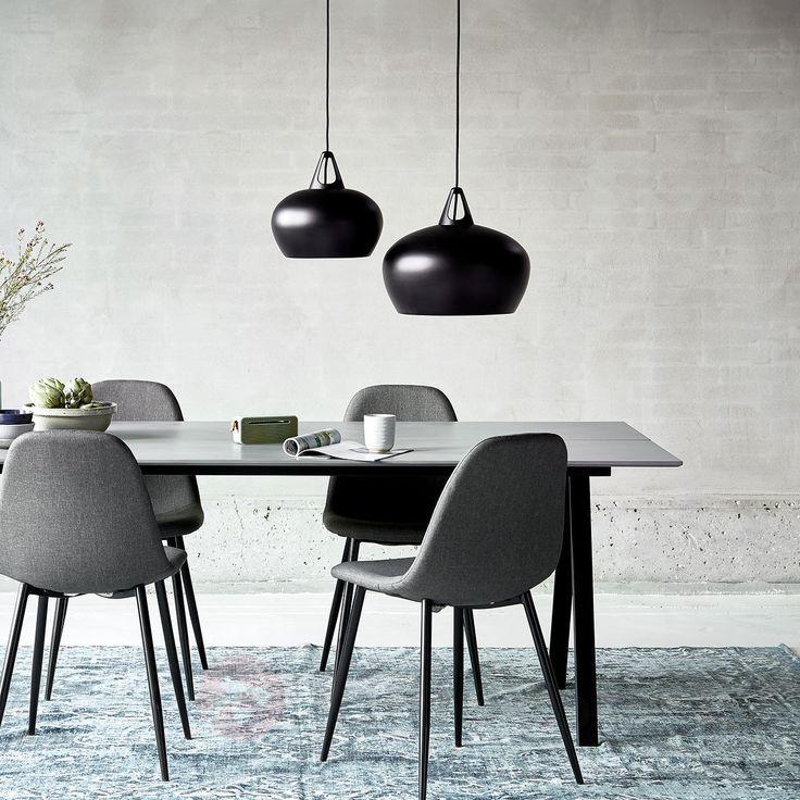 Efektywna lampa wisząca Belly w kolorze czarnym 7006061X