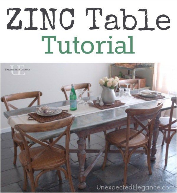 Best  Zinc Table Ideas Only On Pinterest Concrete Table Top - Zinc dining room table
