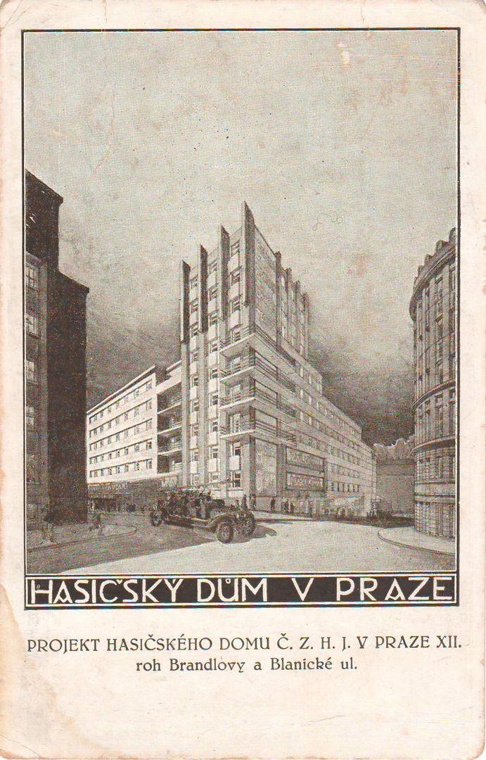 Pražák, Tomáš and Pavel Moravec - Hasičský dům, Praha (The Firemen's House, Prague), 1926-29