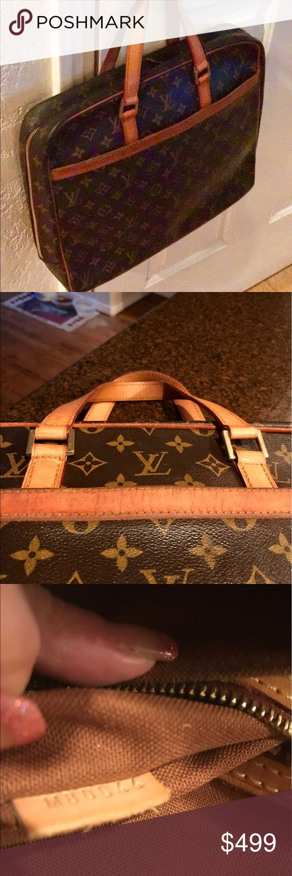 Beautiful Vintage Louis Vuitton Pegasus Briefcase Beautiful  Vintage Louis Vuitton Pegasus Briefcase.  Canvas is in good condition.  Inside canvas is very clean and leather is in good condition.  The leather band leather is a bit older than the straps.  Straps were new by Louis Vuitton.  Size is 15 x 13 x 3.  Datecode MB0044 Louis Vuitton Bags Laptop Bags