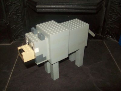 Lego Minecraft Custom Built Wolf with Instructions | eBay