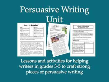 how to start a persuasive writing