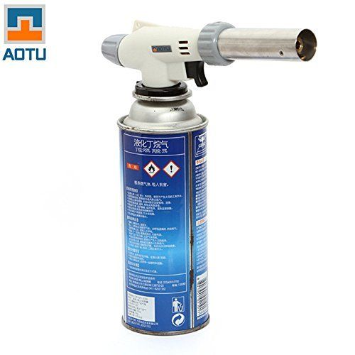 RavTechTM Ultra Light Reliable Safe Butane Gas Torch Burner Auto Ignition Flame Lighter Camping BBQ Flamethrower Outdoor Equipment ** To view further for this item, visit the image link.